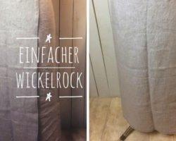 Wickelrock nähen: Nähanleitung für einen Wickelrock mit Knöpfen