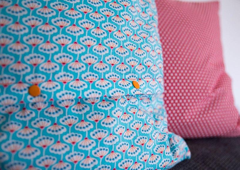 hotelverschluss kissen mit naehen polsterbezug nahen