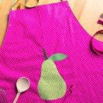 Kinderschürze nähen: Wendeschürze mit Applikation für kleine Hobbyköche
