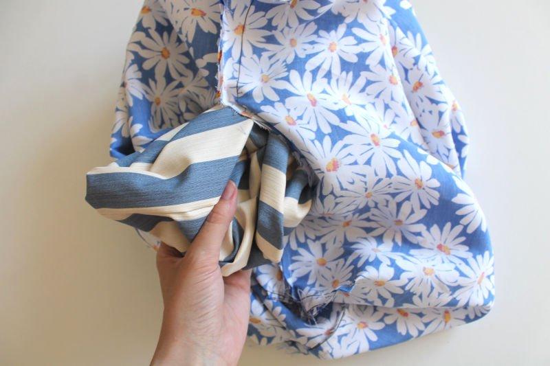 strandtasche-naehen-material-nach-rechts-wenden