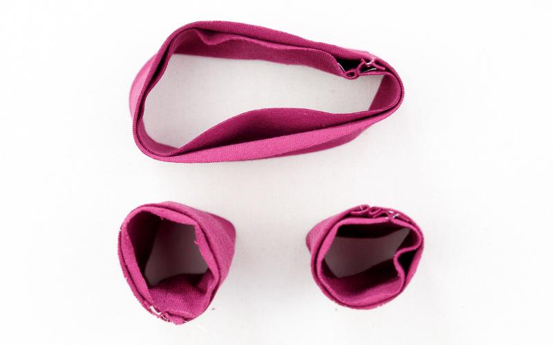 Puppenkleidung nähen Fußbündchen Hosenbund