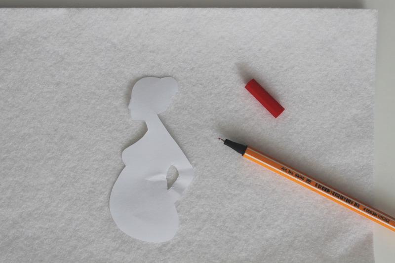 Mutterpasshülle nähen Silhouette zeichnen