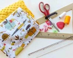 Babydecke nähen: Nähanleitung ohne Schnittmuster
