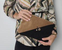 Kleine Tasche nähen: Schicke Clutch aus Kunstleder